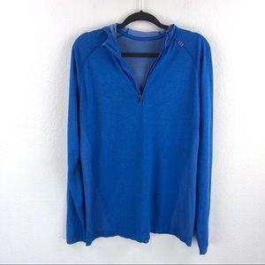 Lululemon Mens 1/4 Zip Hoodie Shirt Long Sleeve
